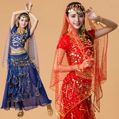 6 Color Belly Dancing Clothes Indian Dance Costume for Performance Stage Wear Women Dance Dress Stage