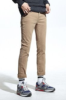 Soft Slim Fit PantsThese soft slim fit pants can transform your casual get-up from laid-back to fun in a snap. Designed with a low rise waist, button and zip closure, plus five pocket styling, these pants will make it to your top favorite bottoms. Ideally teamed with a casual sweater and boots.