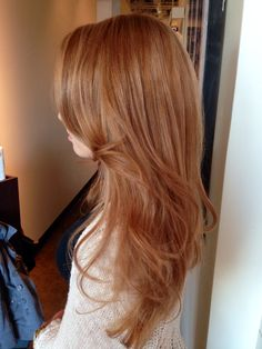 color: Hand painted hair, highlighted hair, no foils, strawberry blonde hair