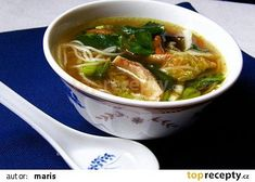 PHO GA - vietnamská kuřecí polévka recept - TopRecepty.cz Pho Bo, Ramen, Food And Drink, Ethnic Recipes, Soups, Vietnam, Business, Asia, Soup