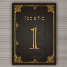Table numbers  DIY Printable  1920 Art Deco Theme   by redlinecs, €10.00
