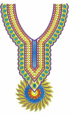 Marvellous Diamond Pattern Neck Design