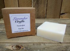 This is my gorgeous handmade natural unscented soap. It is made in small batches using the cold process method of soap making. They are individually cut and then cured for 6 weeks to create the finished bar of soap. #HandmadeInMyKitchen #ForTheLoveOfLavender #LavenderCraftsKilcoole #LavenderCrafts #HandmadeInKilcoole #AllNaturalIngredients #EcoFriendly #PalmOilFree