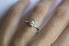 Engagement Diamond Ring White Gold Diamond Engagement by MinimalVS