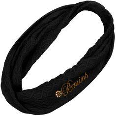 Boston Bruins Ladies Infinity Black Scarf. sooo cute want it