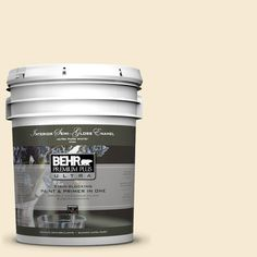 BEHR Premium Plus Ultra 5-gal. #icc-40 Antique Ivory Semi-Gloss Enamel Interior Paint