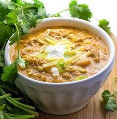 white chicken chili - tender chicken, chilies, white beans, spices and a few more goodies in this winning recipe!