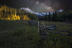 Mt Sneffels and the Milky Way