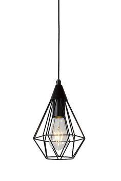 Hanglamp geometrisch zwart, chroom of wit 175mm diameter