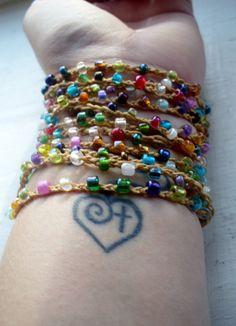 Eezy Peezy Versatile crocheted necklace / bracelet / by FleasKnees, $15.00