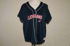 LADY SLUGGER Cleveland Indians MLB Baseball Jersey Blue With White Trim Size 2XL #LADYSLUGGER #ClevelandIndians