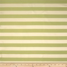 Robert Allen Promo 2 Tone 1'' Stripe Jacquard Lime from @fabricdotcom  This woven polyester jacquard fabric is medium weight and perfect for window treatments, accent pillows, upholstery and other home decor accents. Colors include lime and tan. The stripe runs horizontal to the selvedge.