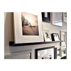 shelf mixed into gallery wall