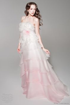 light pink wedding dress 2012