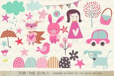 For the Girls Clipart by 7th Avenue Designs on @creativemarket