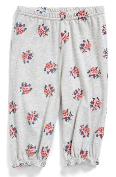 Free shipping and returns on Tucker + Tate Floral Pants (Baby Girls) at Nordstrom.com. Nostalgic roses add charm to cozy jersey-cotton pants finished with ruffled cuffs.