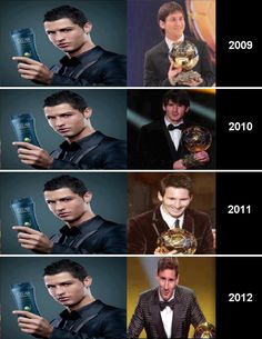 Messi Ronaldo.. Hahaha this is why messi is the best...