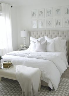 La chambre blanche ultime - Pottery Barn - The Ultimate White Bedroom – Pottery Barn PB BED 2 Master Bedroom Design, Bedroom Inspo, Dream Bedroom, Home Decor Bedroom, Bedroom Ideas, Bedroom Designs, Master Bedroom Decorating Ideas, Spa Bedroom, Country Bedroom Design