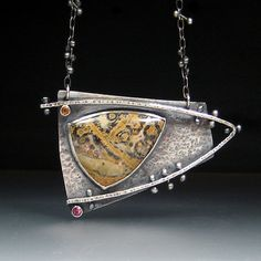 Sara Westermark, Triangle Amulet, c. 2009 Jasper, Citrine, Garnet in sterling silver Collection of Pat Holleman