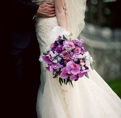 purple wedding flower bridal bouquets