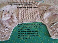 Croché da Dodo: casaco menina Baby Knitting Patterns, Shrug Knitting Pattern, Knitting For Kids, Baby Patterns, Amigurumi Patterns, Diy Crafts Knitting, Knitting Projects, Knitted Baby Cardigan, Knitted Hats