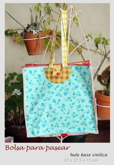 Bags for walking  100% oilcloth  37 x 37.5 x 15 cm