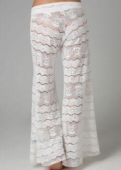 6a776aafbc Talking Heads crochet sleepwear $218.00 Lace Skull, Plazzo Pants, Buy  Lingerie, Lace Pants