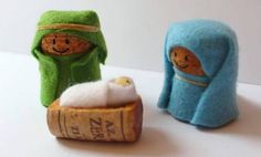 Nativity Crafts for Kids is part of Small Cork crafts - Simple wine cork, felt and elastic band nativity crafts for kids, no glueing, no cost kids craft Nativity Crafts, Christmas Nativity, Noel Christmas, Christmas Ornaments, Nativity Sets, Wine Craft, Wine Cork Crafts, Wine Cork Ornaments, Kids Crafts