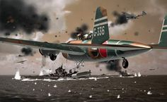 """Mitsubishi G3M Rikko""""Neil"""".  The attack on Darwin, Australia on February 19, 1942, by 188 Japanese aircraft, included 27 G3Ms of the 1. Kokutai (1st Air Group) based at Ambon, in the Dutch East Indies (Indonesia). The """"Nells"""" attacked alongside 27 G4Ms. These bombers followed an 81-strong first wave of Mitsubishi A6M Zero fighters, Aichi D3A dive bombers and Nakajima B5N torpedo bombers."""