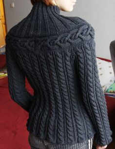Cable sweater - this is so me.