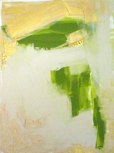 landscape #greens #gold #abstract #art