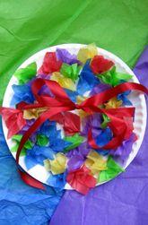 Flower Basket Craft Spring Fun Basket Crafts Kindergarten