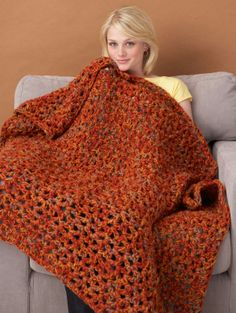 Cozy up with a good book and a cup of tea when you snuggle up under the Fall Weekend Throw. This colorful crochet afghan pattern works up quickly and easily. You can customize this crochet throw blanket pattern for any season. Crochet Fall, Love Crochet, Crochet Hooks, Knit Crochet, Thanksgiving Crochet, Quick Crochet, Unique Crochet, Crochet Afghans, Crochet Blankets