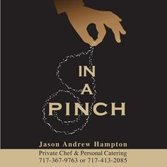 A new logo designed for the up-and-coming business of Jason Andrew Hampton – private chef and personal caterer.