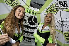 Sam and Sophie working with Go & Fun Honda Gresini at Silverstone MotoGP 30/31st August 2014. To hire our promo models just email hire@grid-girls.co.uk
