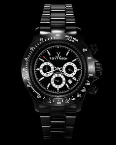 XL CHRONO BLACK AND WHITE Click to see more! #ToyWatch #watch #watches #style #fashion #accessories #menswear #forhim #chrono #black #white #gift #fluo