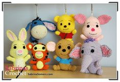 Piglet Amigurumi Free Pattern : Pooh bear piglet eeyore and tigger: free crochet patterns free