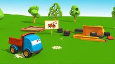 Cartoni Animati per bambini - Leo il Camion Curioso e la Gru