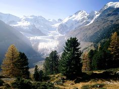 Piz Bernina, Moteratsch Glacier, Engadine, Switzerland - http://imashon.com/w/piz-bernina-moteratsch-glacier-engadine-switzerland.html