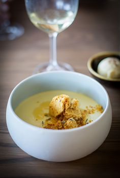 This dessert blew my mind: Wild honey and lavender creme with honeycomb and cassia ice cream. The Chefs Warehouse, Beau Constantia, Cape Town South Africa Chefs Warehouse, Nom Nom, Dips, Food Photography, Appetizers, Pudding, Lunch, Dinner, Cape Town