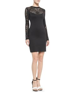 Laser-Cut-Top+Fitted+Jersey+Dress+by+Clover+Canyon+at+Neiman+Marcus.