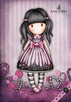 I love Suzanne Woolcott's Gorjuss girls. Her work inspires me to reach for the highest level of quality in my own artwork. I want to inspire others, like she has inspired me. Cute Images, Cute Pictures, Cute Girls, Little Girls, Santoro London, Arte Country, Copics, Whimsical Art, Cute Illustration