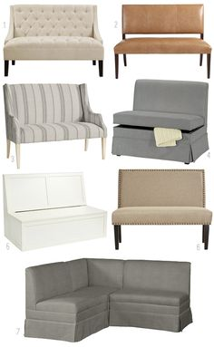 Upholstered Dining Banquettes - Dining Benches Round Up