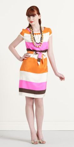 Pink and orange dress from Kate Spade.