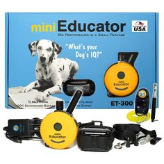 Bundle of 2 items - E-Collar - ET-300 - 1/2 Mile Remote Waterproof Trainer Mini Educator - Static, Vibration and Sound Stimulation collar with PetsTEK Dog Training Clicker and Dog Whistle Training Kit >>> Click image for more details. (This is an affiliate link and I receive a commission for the sales)
