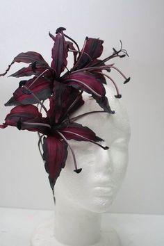 火焰百合 @ 英華藝術造花 Sugar Flowers, Silk Flowers, Fabric Flowers, Leather Carving, Leather Flowers, Handmade Flowers, Headdress, Flower Crown, Clay