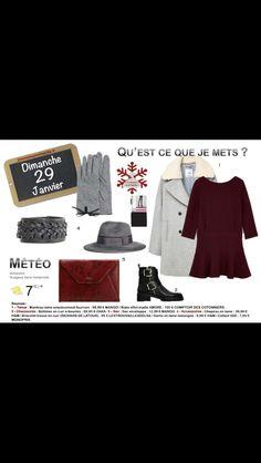 Dernier jour de la semaine sur le thème #Robe. #bordeaux #dress Tous les liens sur http://www.2minutesjemhabille.fr/fr/dimanche-29-janvier-2017/