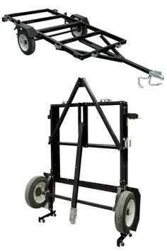 Ironton x Steel Folding Utility Trailer Kit — Load Capacity Kayak Trailer, Trailer Plans, Trailer Build, Utility Trailer Kits, Folding Utility Trailer, Foldable Trailer, Motorcycle Trailer, Steel Fabrication, Camping Car