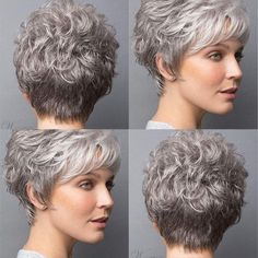 wigsbuy Short Wig With Softly Swept Bangs Synthetic Hair Wig Short Wigs, Synthetic Hair, Wig Hairstyles, Bangs, New Look, Elegant, House, Color, Ideas