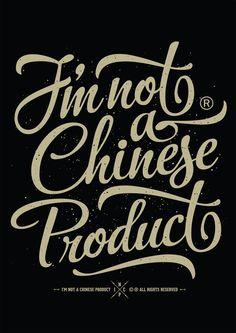 I'm not a chinese product (2013) by Francesco Paura Curci, via Behance